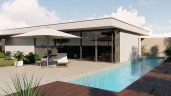 Images de synthèses, theme : côté piscine