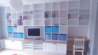 Chidrens Playroom. Storage and desk.