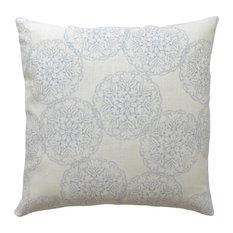 light blue ikat medallion decorative pillow cover decorative pillows