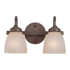 Spencer 2-Light Vanity Light, Bronze