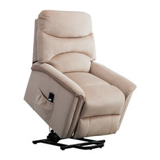 BONZY Lift Recliner Chair Power Lift Chair With Gentle Motor Velvet Cover