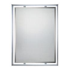 Quoizel Uptown Ritz Mirror Polished Chrome Bathroom Mirrors