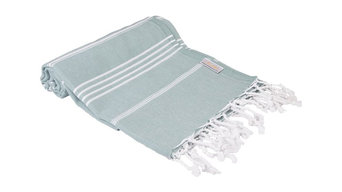 Classic 100% Cotton Turkish Peshtemal Towel, Dark Green