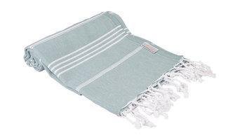 Classic 100% Cotton Turkish Peshtemal Towel, Dark Green