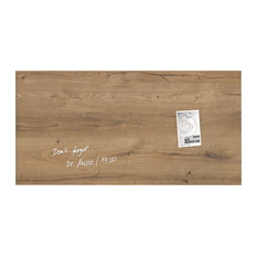 "Sigel 36""x18"" Contemporary Magnetic Glass Board, Natural Wood"