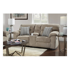 Simon Reclining Loveseat - Chevron Seal