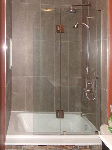 Tri and bi fold shower enclosure custom bi fold shower guard enclosure shower doors planetlyrics Images