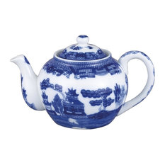 Hic Porcelain Blue Willow Teapot With Infuser