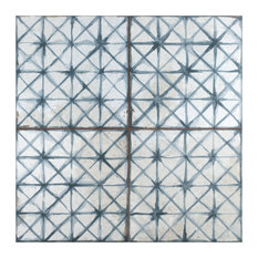 "17.63"" x 17.63"" Royals Cathedral Ceramic Floor and Wall Tile, Set of 5, Blue"