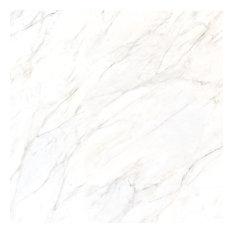 "36""x36"" Gioia Porcelain Tile, Silver"