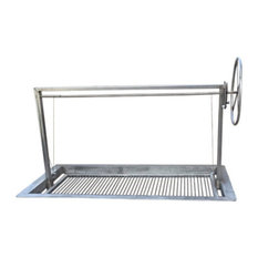 """Jonathan D Sinor - Stainless Santa Maria Style Drop In Frame BBQ Grill, 36""""x24"""" - Outdoor Grills"""