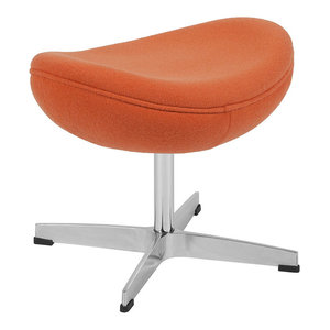 Ottoman, Orange Wool Fabric By Flash Furniture Looking For