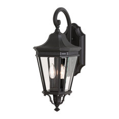 2-Light Wall Lantern, Black