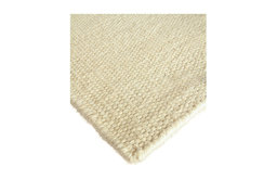 White Flour Wool Berber Solid Rug, 6'x9'