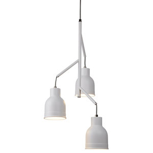 Searchlight Miami 3-Light Ceiling Light, White