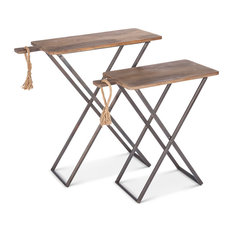 Wood Tray Tables, 2 Piece Set