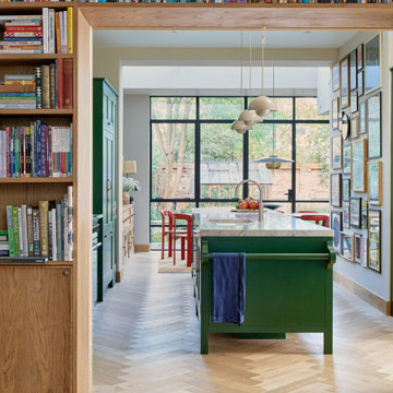 Library to Kitchen