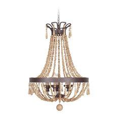 Jeremiah Lighting Berkshire 9-Light Pendant, Aged Bronze Textured
