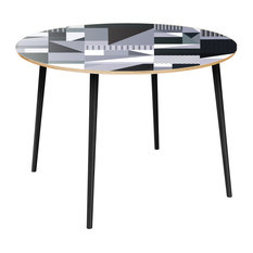 Stella Flare Dining Table - Grayscale Patchwork