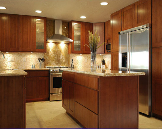 Carbonized Bamboo Kitchen Cabinets