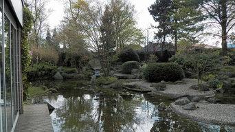 Alter Japangarten in neuem Gewand - Teichsanierung