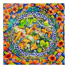 """Circling Kio Fish"",Acrylic Painting"