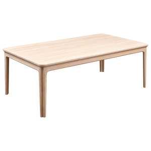 Skovby Mobelfabrik A/S Rectangular Wooden Coffee Table, White Oiled Oak