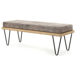 Industrial Upholstered Benches by GDFStudio