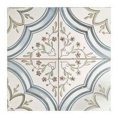 """SomerTile 17.63""""x17.63"""" Almeria Ceramic Floor and Wall Tile, Set of 5"""