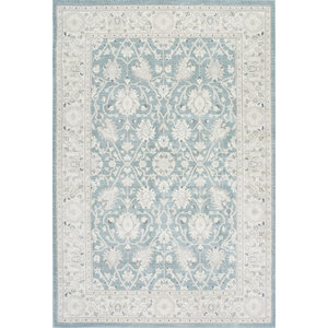 """Traditional Persian Vintage Rug, Blue, 5'3""""x7'7"""""""