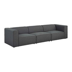 Modern Contemporary Urban Living Sofa Set Gray