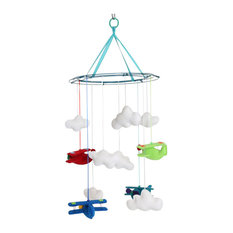 Eclectic Nursery Hawaii Pillowed - Planes Mobile - Baby Mobiles