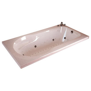 "Atlantis Tubs 3260ZDL Zepher 32x60x23"" Air and Whirlpool Jetted Bathtub"