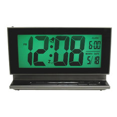 "Equity® 30041 Jumbo 2.0"" Lcd Digital Alarm Clock With Nightvision Technology"