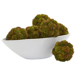 Large Moss In Newport Bowl Traditional Artificial