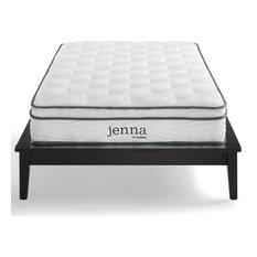 "Jenna 8"" Twin Innerspring Mattress, White"