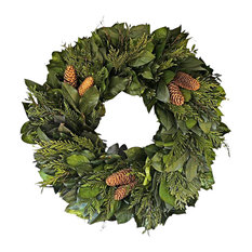 Botanical Splash - Chateau Dried Holiday Wreath - Wreaths and Garlands