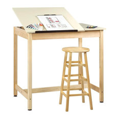 Shain - Art Drafting Table With Adjustable Drawing Surface - Drafting Tables