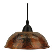 Hand-Hammered Copper Dome Pendant Light