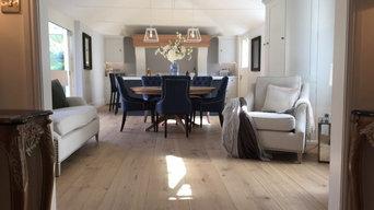 Barn conversion Sussex - specialist wide board engineered oak floor