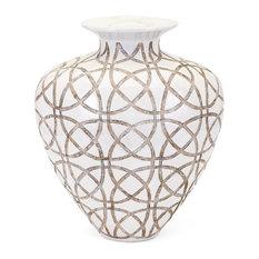 Kelsang Earthenware Vase, Short