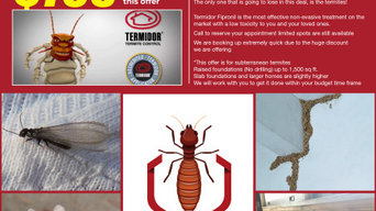 Full Sunterranean Termite Termidor Treatment 2 Year Warranty $795