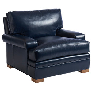 Awe Inspiring Kent Leather Chair Traditional Armchairs And Accent Forskolin Free Trial Chair Design Images Forskolin Free Trialorg