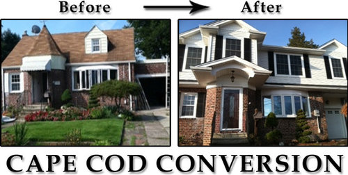 Cape cod add a level in new jersey for Cape cod second floor addition