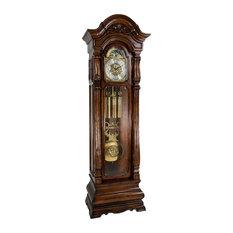 Salerno Floor Clock, Walnut Finish