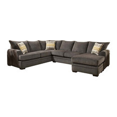 Louis Sectional, Perth Smoke, 186830-4214-SEC-PS, Right Facing