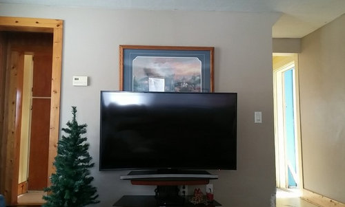 Picture above tv