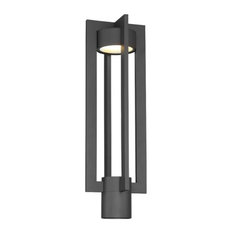 Wac Lighting Pm W48620 Chamber Single Head Post Light Outdoor