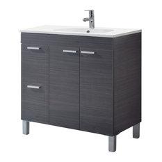 Aktiva 80 Bathroom Vanity Unit, Ash Grey