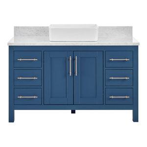 Kendall Deep Blue Bathroom Vanity With Vessel Sink, 48